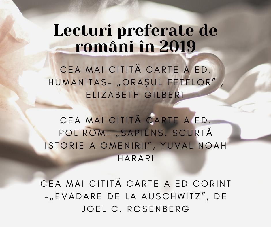 lecturi preferate de romani 2019